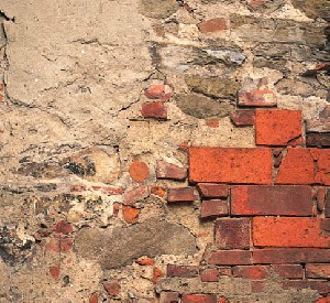 Figure 3. Erratically repaired brick wall