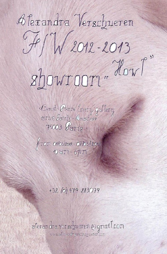 Figure 5. Showroom invitation for Howl